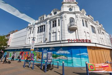 Colourful Eastbourne mural image on Bournefree Live news website