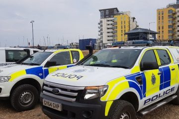 Police at Sovereign Harbour image on Bournefree Live news website