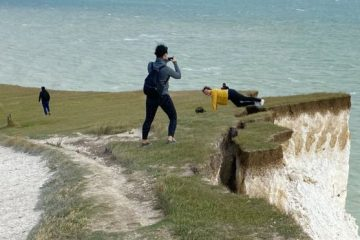 Birling Gap cliff edge image on Bournefree Live news website