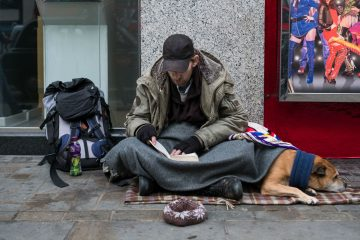 Homeless person image on Bournefree Live news website