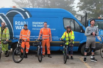 Polegate construction company goes emission free to raise money on Bournefree website
