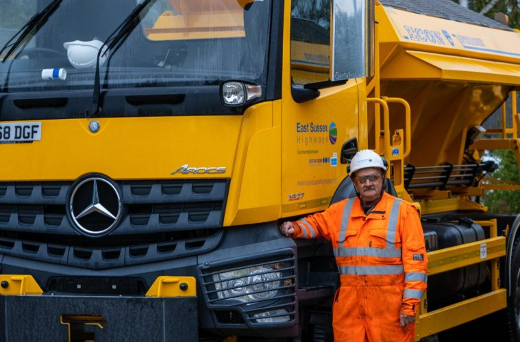 Eat, sleep, grit, repeat... the gritters are getting ready on Bournefree website