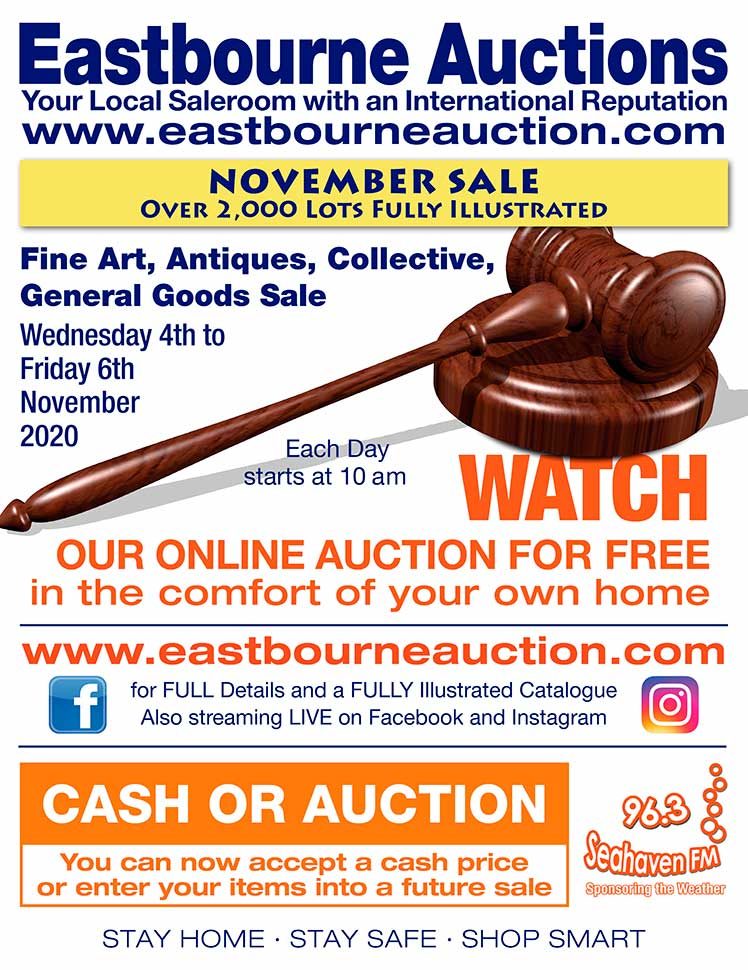 Eastbourne Auctions advert on Bournefree Live website