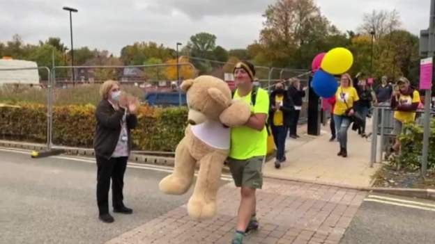 Man raises £20k on tribute walk to son on Bournefree website