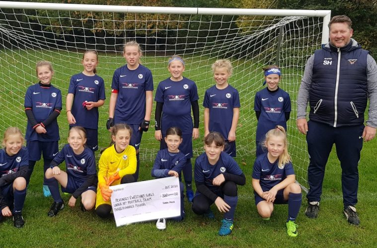 on Bournefree website Pevensey & Westham Girls' Under 10s football team. on Bournefree website