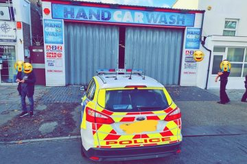 Eastbourne car wash 'shut down and fined by police' on Bournefree website
