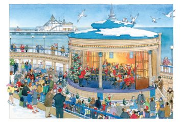 For sale: Charity Xmas cards of Eastbourne Bandstand and our festive swim on Bournefree website