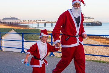 A Merriment of Santas to Join New Virtual Fun Run in Eastbourne on Bournefree website