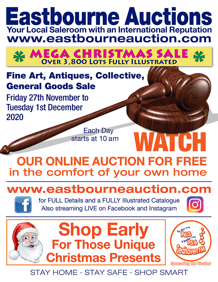 Eastbourne Auctions advert on Bournefree Live news website