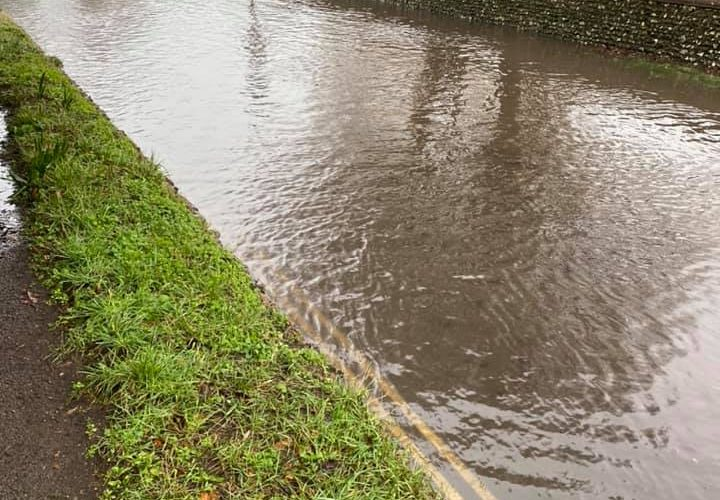 Alfriston remains flooded on Eastbourne Bournefree website