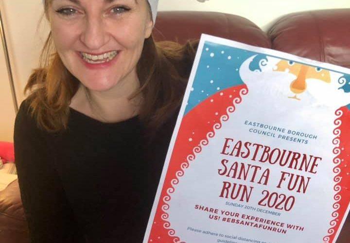 Caroline to run Santa Fun Run for People Matter charity on Eastbourne Bournefree website