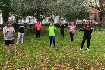 Eastbourne Jobcentre Plus colleagues running group, Sole Mates, helping St Wilfrid's Hospice on Eastbourne Bournefree website
