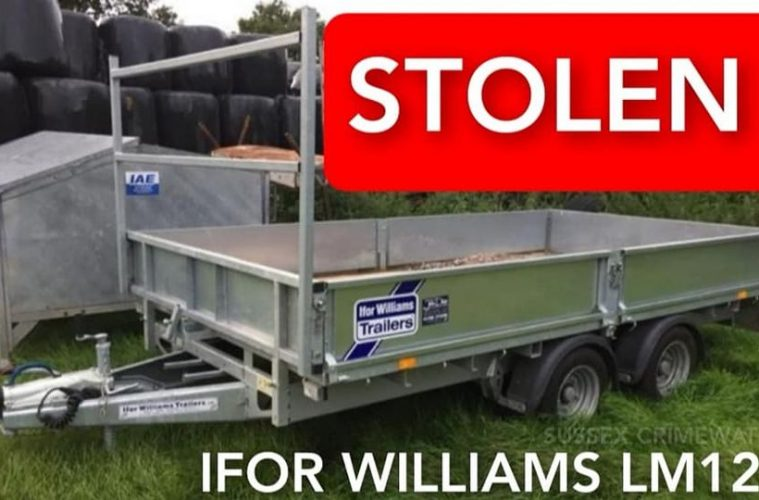 Trailer stolen overnight from 'secure compound' at Lower Dicker on Eastbourne Bournefree website