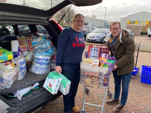 Eastbourne Foodbank thanks Zoonou for kind festive donation on Bournefree website