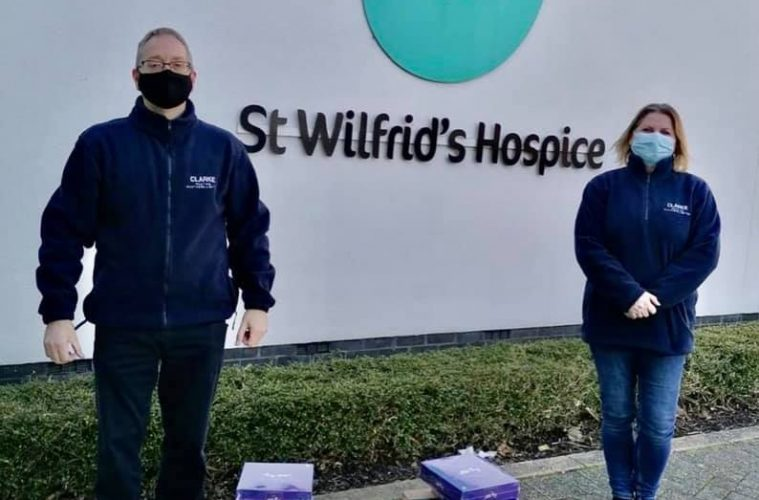 Clarke Roofing donates to St Wilfrid's Hospice on Eastbourne Bournefree website