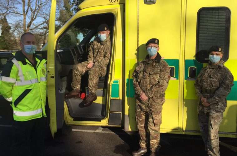 Soldiers are helping our ambulance heroes at Polegate on Eastbourne Bournefree website
