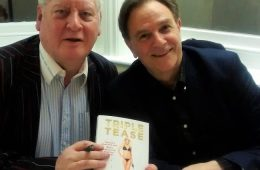 Tony Flood, left, with Coronation Street star Brian Capron on Eastbourne Bournefree magazine