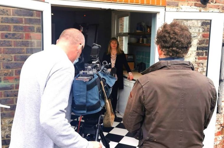 Did you see our very own Gail on ITN News last night?on Eastbourne Bournefree magazine
