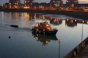 Migrants stranded off the Eastbourne coast are safe on Eastbourne Bournefree website