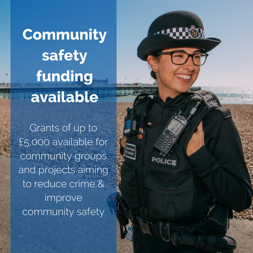 Community Safety Funding available during testing times on Eastbourne Bournefree website