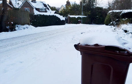 Waste Collections – Continued disruption due to snow on Eastbourne Bournefree website