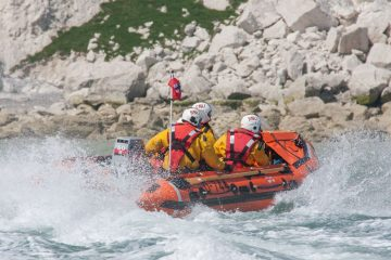 Eastbourne Lifeboat damaged in this afternoon's drama at Birling Gap on Eastbourne Bournefree website