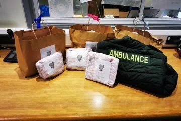 Eastbourne's Sew Sussex send care packs to ambulance staff at Polegate on Eastbourne Bourn efree website