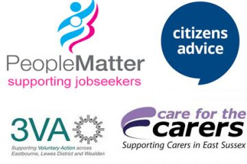 Citizen's Advice, 3VA, Care for Carers and People Matter on Eastbourne Bournefree website