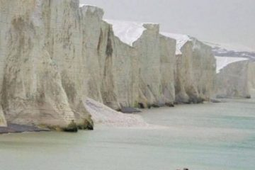 Cliff fall at Seven Sisters today on Eastbourne Bournefree website