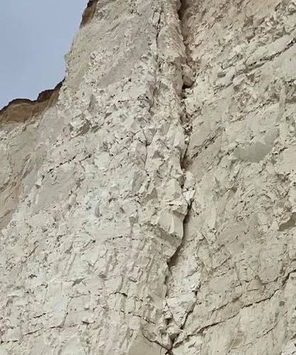 Look at these! More cracks at Belle Tout cliff edge in Eastbourne on Eastbourne Bournefree website