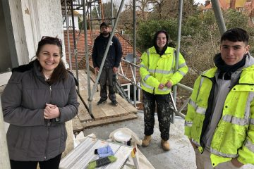 Eastbourne MP speaks to painters and decorators working on her home during National Careers Week, Caroline Ansell and East Sussex College on Eastbourne Bournefree website