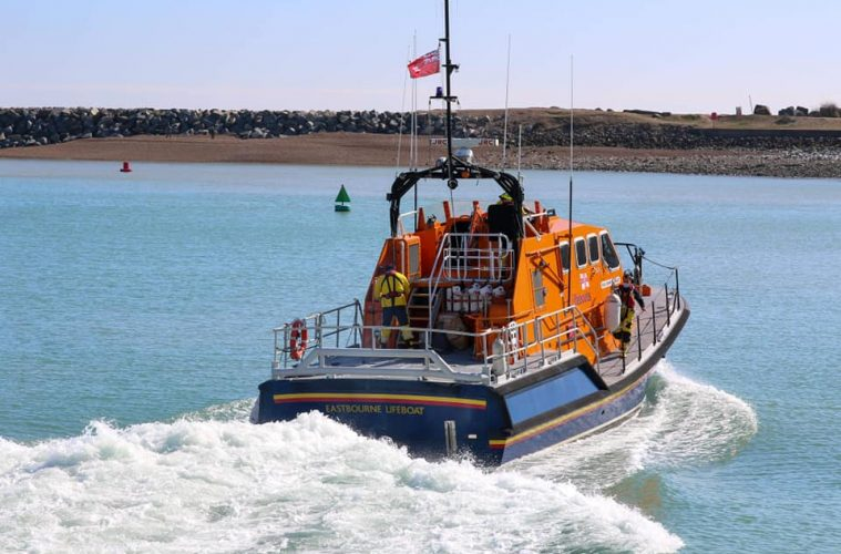 Eastbourne RNLI launches to help with search for missing person on Eastbourne Bournefree website