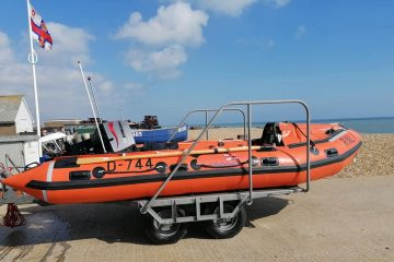 Eastbourne RNLI welcomes back lifeboat damaged in rescue on Eastbourne Bournefree website