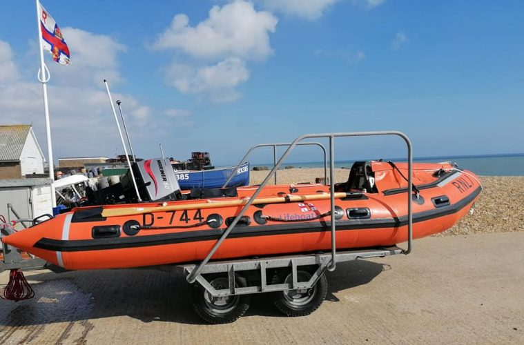 Eastbourne RNLI welcomes back lifeboat damaged in rescue on Eastbourne Bournefree website