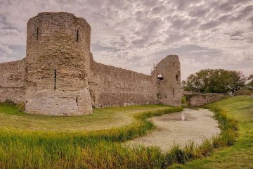 Pevensey Castle is reopening this month on Eastbourne Bournefree website