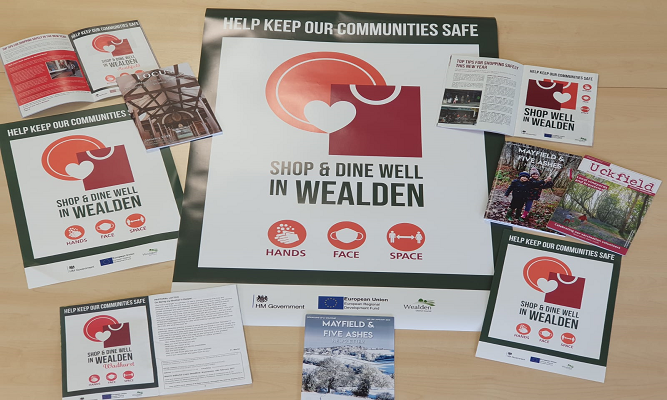 Helping high streets prepare for re-opening across Wealden on Eastbourne Bournefree website