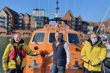 Sussex Masonic Charitable Foundation donates 12 tablets to Eastbourne RNLI on Eastbourne Bournefree website