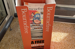 Where you can still pick up copies of the April Bournefree magazine on Eastbourne Bournefree website