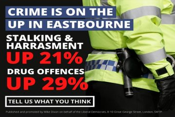 Anger as Eastbourne LibDems claim crime is soaring in the town on Eastbourne Bournefree website