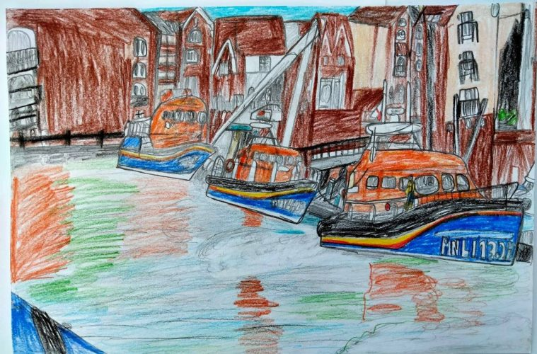 Look at Oliver's latest drawing! It's amazing on Eastbourne Bournefree website: Sovereign Harbour