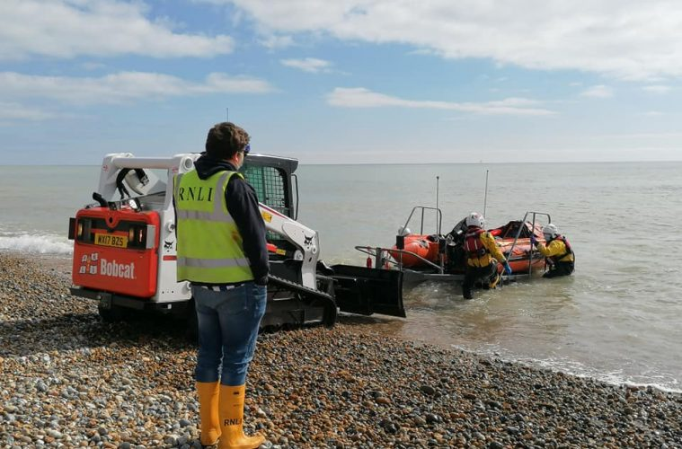 Eastbourne RNLI rescues 'distressed' person at sea opposite The Langham Hotel today on Eastbourne Bournefree website