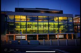 Eastbourne's Congress Theatre turns yellow to join Marie Curie in National Day Of Reflection on Eastbourne Bournefree website