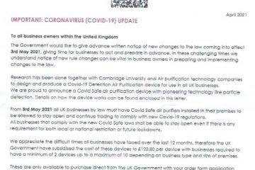 Fake Government letters delivered in Eastbourne and Hailsham on Eastbourne Bournerfree website