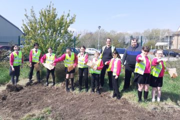 Community heroes Morrisons plant wild flower seeds by Park Practice doctors on Eastbourne Bournefree website