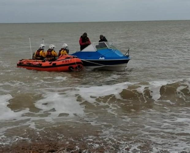 Eastbourne RNLI rescues pair on vessel which had engine failure on Eastbourne Bournefree website