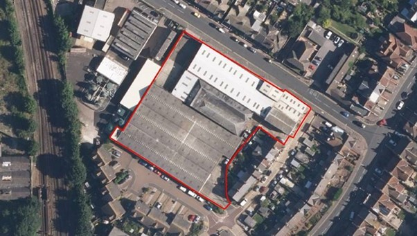 Former Dairy Crest side in Waterworks Road, Eastbourme is sold on Eastbourne Bournefree website