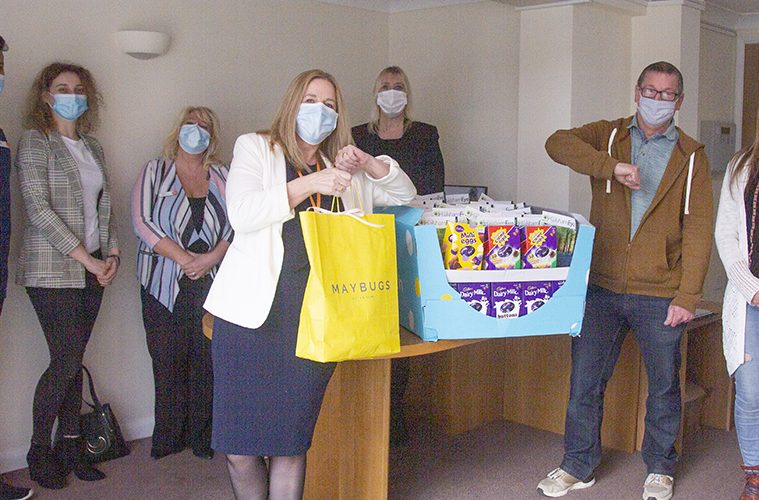 Easter eggs given to Care and Nursing home residents and staff on Eastbourne Bournefree website: This was in Hailsham
