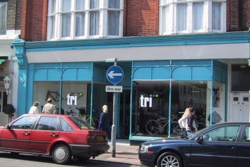 The Tri Store celebrates its 18th birthday in Eastbourne's Grove Road today on Eastbourne Bournefree website
