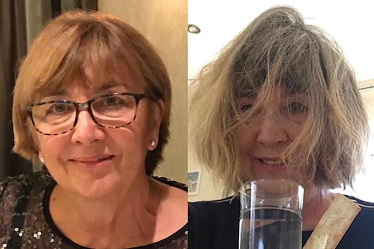 Christine before and after Lockdown on Eastbourne Bournefree website