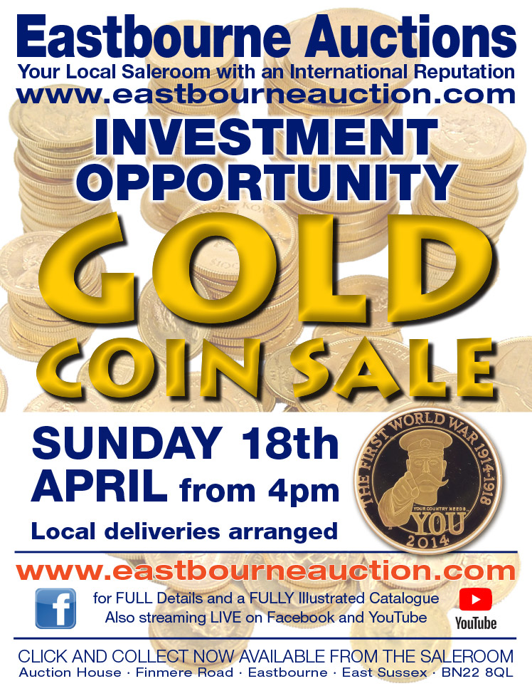 Eastbourne Auctions April Coin Sale on Bournefree Live website